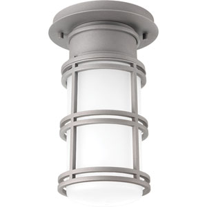 P6536-13630K9 Bell Textured Graphite One-Light Outdoor LED Flush Mount