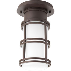 P6536-2030K9 Bell Antique Bronze One-Light Outdoor LED Flush Mount
