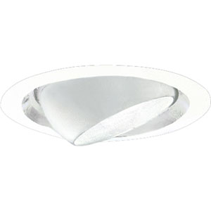 P6676-29 White Recessed Eyeball Trim