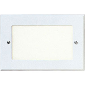 One-Light White Shatter-Resistant Faceplates Step Lights with White Glass