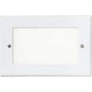 One-Light White Louver Shatter-Resistant Faceplate Step Lights with White Glass