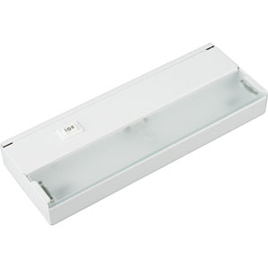 Hide-a-Lite III White One-Light Undercabinet with Frosted Glass Lens
