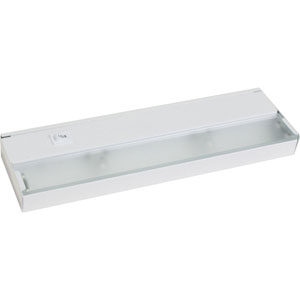 Hide-a-Lite III White Two-Light Undercabinet with Frosted Glass Lens