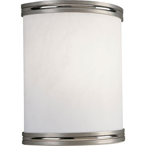 P7083-09EBWB:  Brushed Nickel White Acrylic One-Light Energy Star Sconce