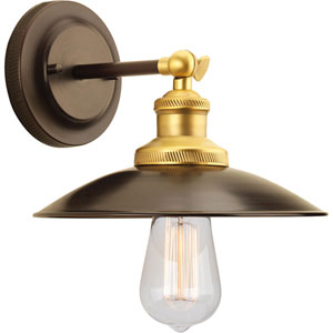 P7156-20 Archives Antique Bronze 9-Inch One-Light Wall Sconce