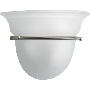 Torino Brushed Nickel One-Light Wall Sconce with Etched Glass