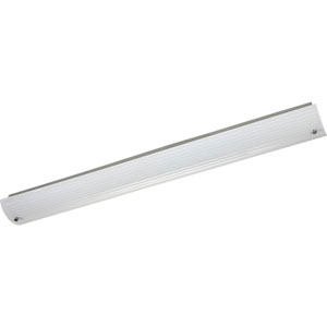 Ribbed Linear Brushed Nickel Two-Light 48-Inch Bath Fixture with Etched Ribbed Glass Diffuser