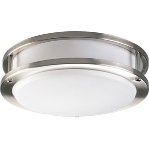 P7249-09EBWB:  Brushed Nickel One-Light Energy Star Ceiling Light