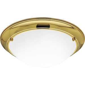 P7325-10EBWB:  Eclipse Polished Brass Three-Light Energy Star Ceiling Light