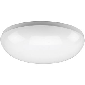 P7385-30:  White One-Light Fluorescent Ceiling Light