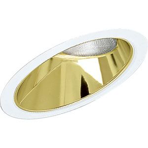 P8001-22 Gold Alzak Sloped Ceiling Recessed Trim