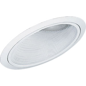 P8004-28 White Sloped Ceiling Recessed Trim