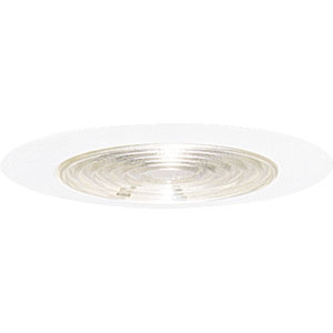 P8038-83FB White Fluorescent Recessed Fresnel Trim