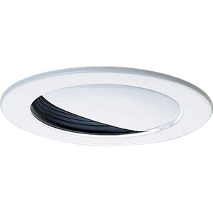 P8045-31 White and Black Wall Washer Recessed Trim