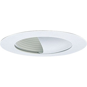 P8052-28 White Wall Washer Recessed Trim