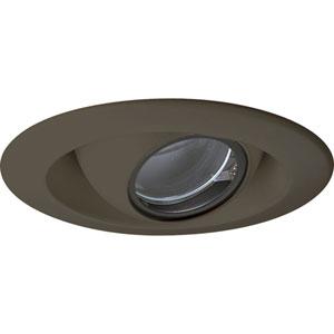 Pinhole Trim Antique Bronze One-Light Recessed-Trim with Clear Glass