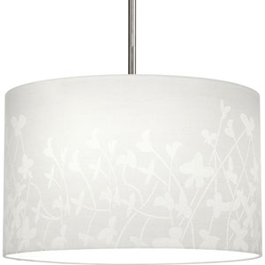 Markor and Choloe White 16-Inch Floral Pattern Modular Pendant