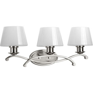 Dazzle Brushed Nickel Three-Light Bath Sconce