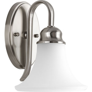Applause Brushed Nickel One-Light Bath Sconce