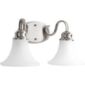 Applause Brushed Nickel Two-Light Bath Sconce
