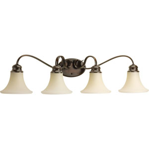 Applause Antique Bronze Four-Light Bath Sconce