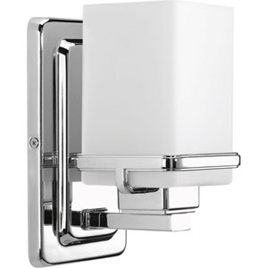 Metric Polished Chrome One-Light Bath Sconce