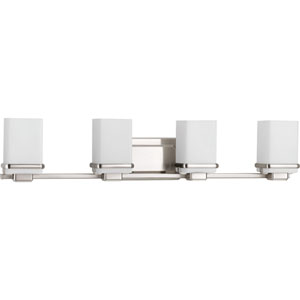 Metric Brushed Nickel Four-Light Bath Sconce