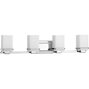 Metric Polished Chrome Four-Light Bath Sconce