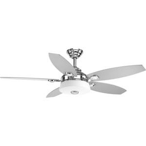 Graceful Polished Chrome 54-Inch LED Ceiling Fan