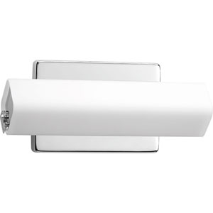 Wedge Polished Chrome LED 11-Inch One-Light Bath Sconce