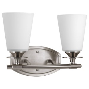 Cantata Brushed Nickel Two-Light Vanity Fixture