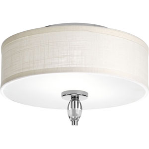 Status Polished Chrome Two-Light Flush Mount
