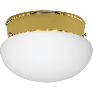 Fitter Polished Brass One-Light Flush Mount