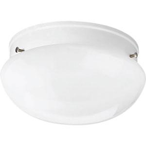 Fitter White Seven-Inch One-Light Flush Mount