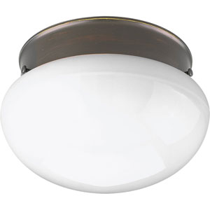 Fitter Antique Bronze 10-Inch Two-Light Flush Mount