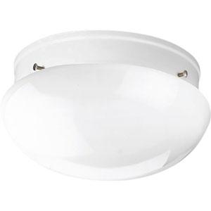 Fitter White Two-Light Flush Mount