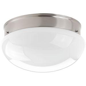 Fitter Brushed Nickel LED One-Light Flush Mount