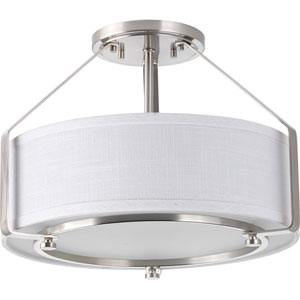 Ratio Brushed Nickel Three-Light Flush Mount