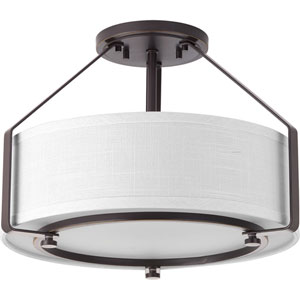 Ratio Antique Bronze Three-Light Flush Mount