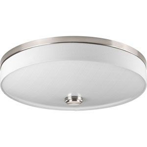 Weaver Brushed Nickel LED Two-Light Flush Mount