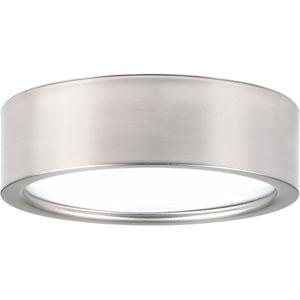 Portal Brushed Nickel LED Nine-Inch One-Light Flush Mount
