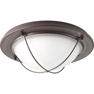 Portal Antique Bronze LED 11-Inch One-Light Flush Mount