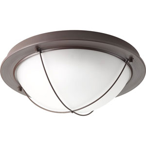 Portal Antique Bronze LED 14-Inch One-Light Flush Mount