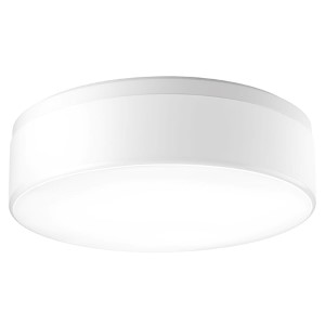 Maier White Three-Light Fluorescent Flush Mount with White Acrylic Diffuser