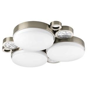 Bingo Brushed Nickel 23.75-Inch Wide LED Flush Mount Cluster White Acrylic Diffuser
