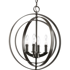 Equinox Antique Bronze Four-Light Pendant