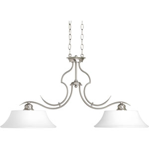 Applause Brushed Nickel Two-Light Pendant