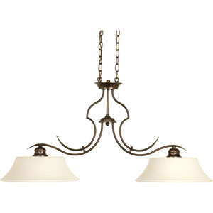 Applause Antique Bronze Two-Light Pendant