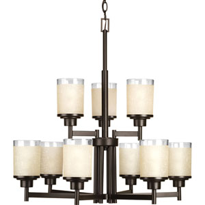 Alexa Antique Bronze Nine-Light Chandelier