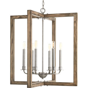 Turnbury Galvanized Finish Six-Light Pendant